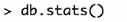 MongoDB_Befehl_stats()